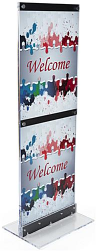 Floor-Standing Acrylic Graphic Holder with Two 22x28 Posters