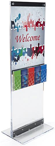 Acrylic Display Totem with Brochure Holder & Removable Dividers