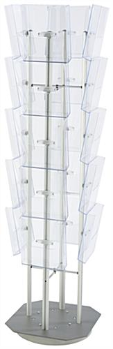 Spinning Magazine Stand With 20 Pockets, Polycarbonate