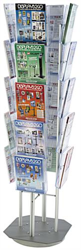 Spinning Magazine Stand With 20 Pockets, Rotating