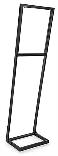Push fit sign stand frame with slight angle for best view