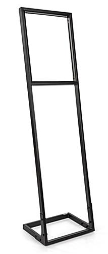 SEG push fit sign stand with 5 1/2 ft tall freestanding angled frame