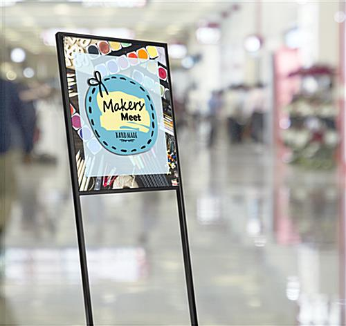 SEG tension fabric poster stand for public walkways or trade shows