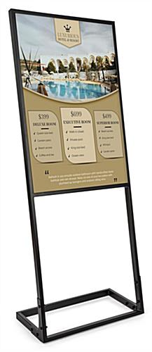24x36 SEG fabric poster display with custom printed silicone edge graphic sign