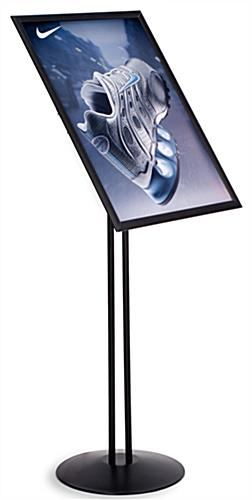"Sign Display w/Fully Adjustable Design: 18"" 24"" Black"