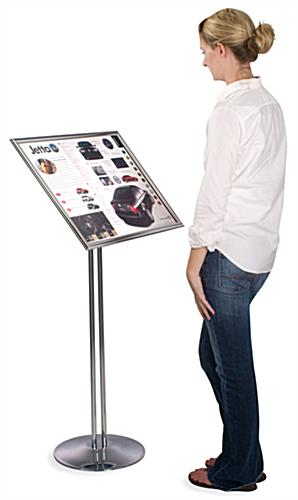 "Poster Display: Fully Adjustable, 18"" x 24"" Chrome"