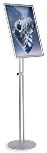 "Poster Stand w/Fully Adjustable Design: 18"" x 24"" Silver"
