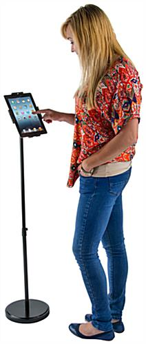 Tilting Secure Tablet Floor Stand