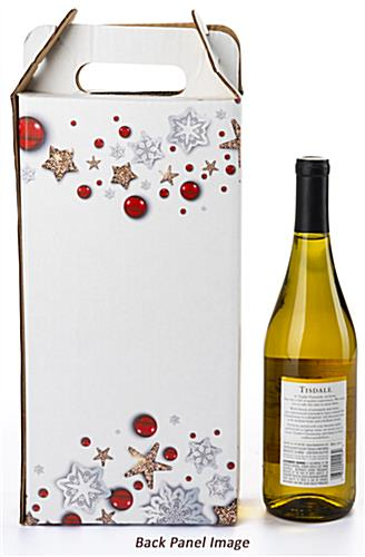 Happy holiday pre-printed cardboard wine carrier is sold in a package of 25