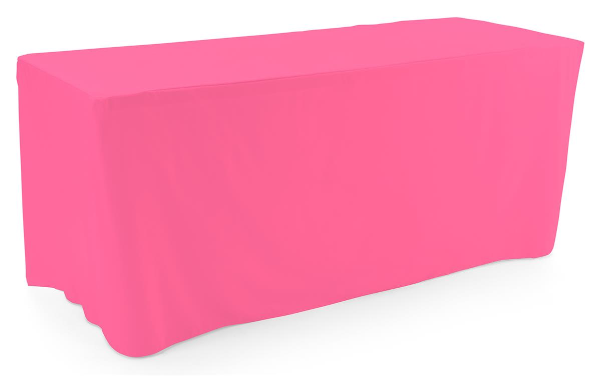 Pink trade show table throws