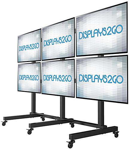 Lcd Video Wall Cart 3 Lockable Casters