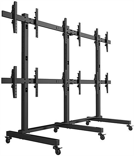 LCD Video Wall Cart, Steel Construction