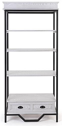 French country etagere shelving has an overall height of 75 inches