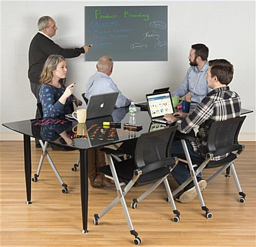 36 x 24 Magnetic Glass Dry Erase Board for Conference Rooms