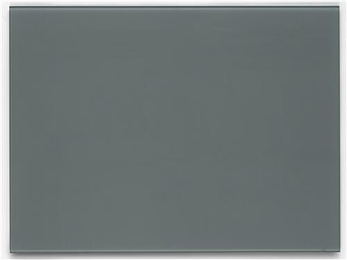 36 x 24 Magnetic Glass Dry Erase Board, Cool Gray