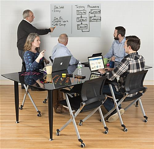 36 x 24 Magnetic Glass Whiteboard for Conference Rooms