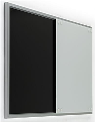 Magnetic Sliding Glass Whiteboard, Silver Frame