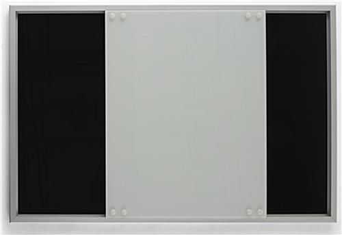 Magnetic Sliding Glass Whiteboard with Moving Front Panel