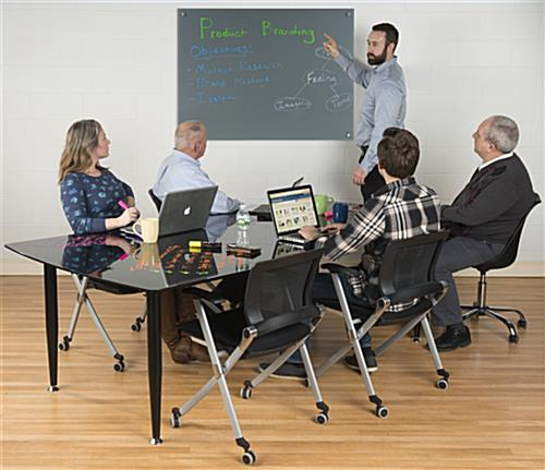 48 x 36 Magnetic Glass Dry Erase Board for Offices