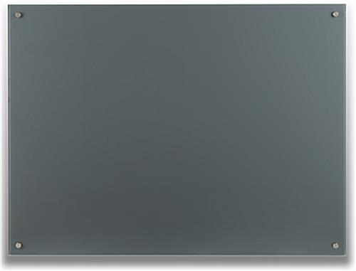 Cool Gray 48 x 36 Magnetic Glass Dry Erase Board