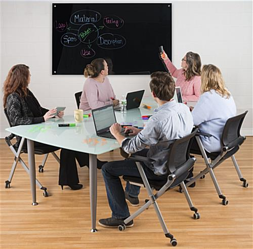 60 x 36 Magnetic Glass Marker Board for Conference Rooms