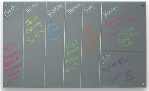 60 x 36 magnetic glass dry erase board works with wet erase markers - Glass Dry Erase Board