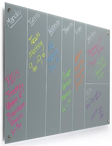 60 x 36 Magnetic Glass Dry Erase Board with Frameless Design