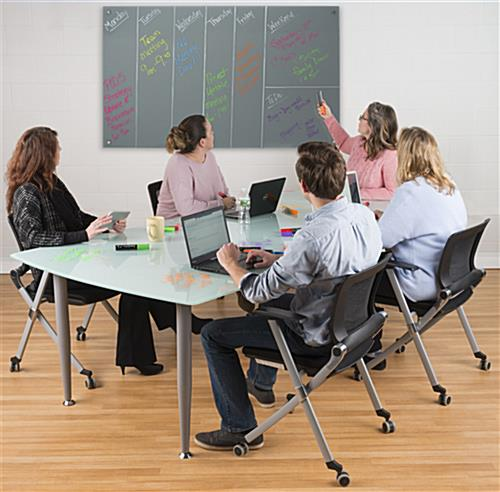 60 x 36 Magnetic Glass Dry Erase Board for Office Environments