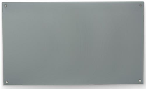 Gray 60 x 36 Magnetic Glass Dry Erase Board