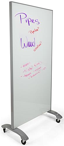 Mobile Full Height Glass Whiteboard for Dry Erase