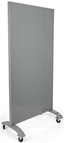 Gray Mobile Full Height Glass Whiteboard