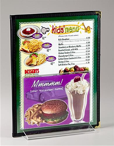 Restaurant Menu Display