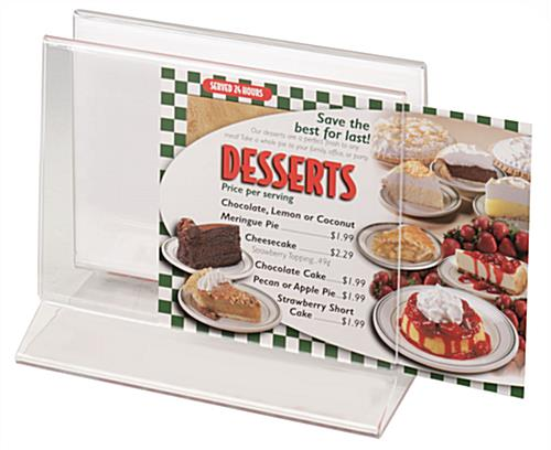 "Restaurant Menu Display 7"" wide by 5' high Acrylic"