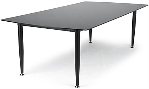 Black Glass Top Dry Erase Table with Smooth Top