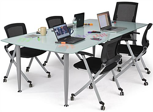 Frosted Glass Dry Erase Table With Smooth Top