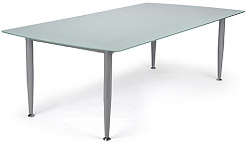 Frosted Glass Dry Erase Table with Silver Legs