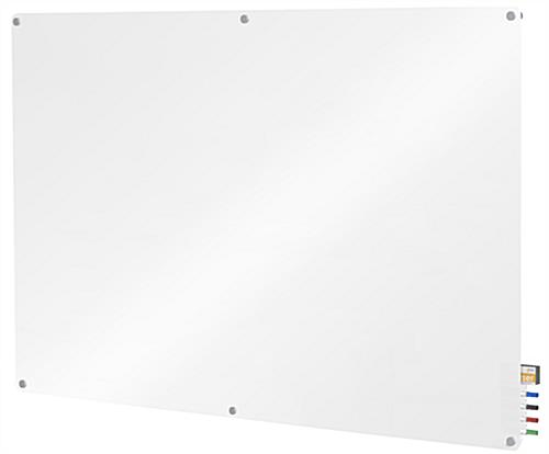 Glass Dry-Erase Board Includes Eraser