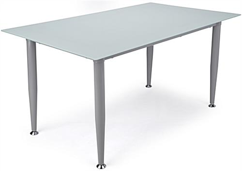 Frosted Glass Whiteboard Desk with White Top
