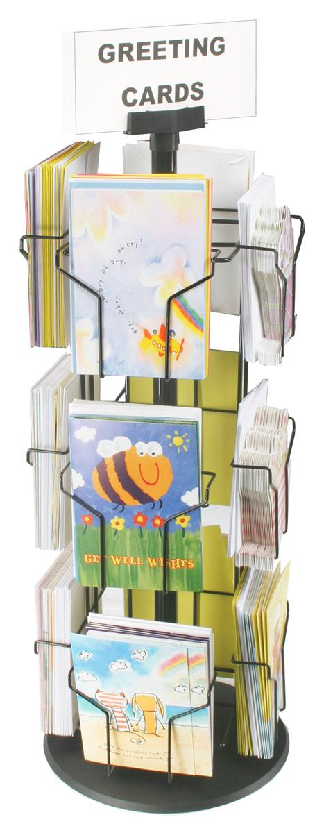 Greeting card rack 12 pocket wire revolving stand m4hsunfo