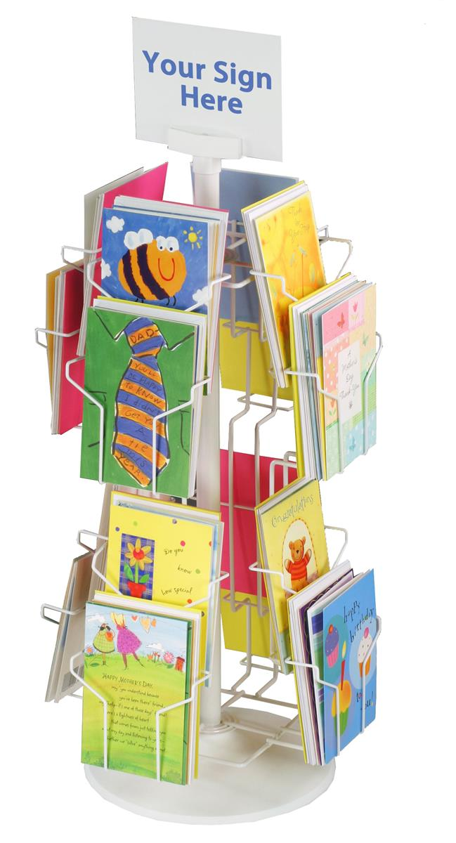 Greeting Card Display Rack White Wire Countertop Card Stand