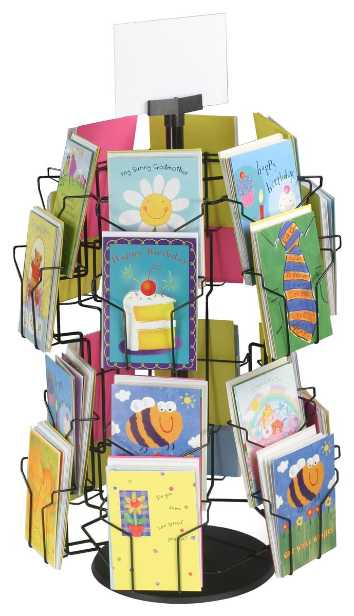 Wire Greeting Card Stand Revolving Countertop Display