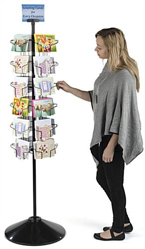 4 Sided Postcard Display Stand