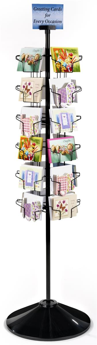 postcard display stand  fully rotating design