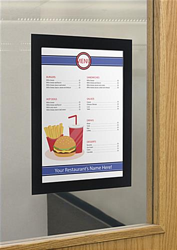 One Time Use 8.5 x 11 Peel and Stick Sign Holder
