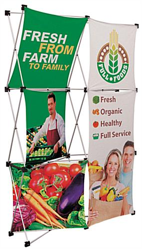 Trade show popup with dye-sublimated fabric panels