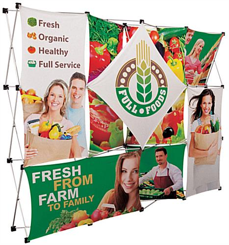Trade show pop up with dye-subliamated printed graphics