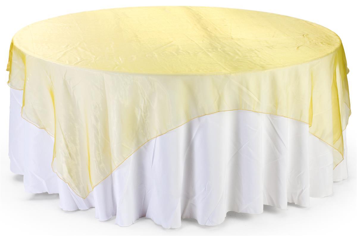 Sheer Overlay Gold Organza Square Table Sheet