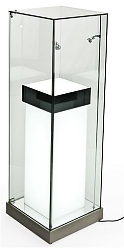 Silver Illuminated Pedestals With Led Lighting Amp Inner Stand