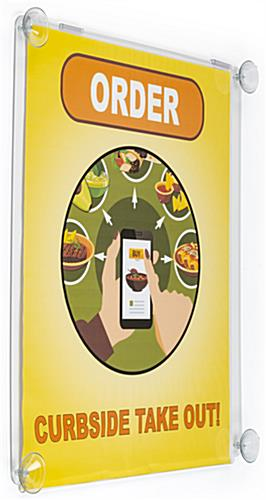 22 X 28 Window Sign Holder W Suction Cup Poster Mount