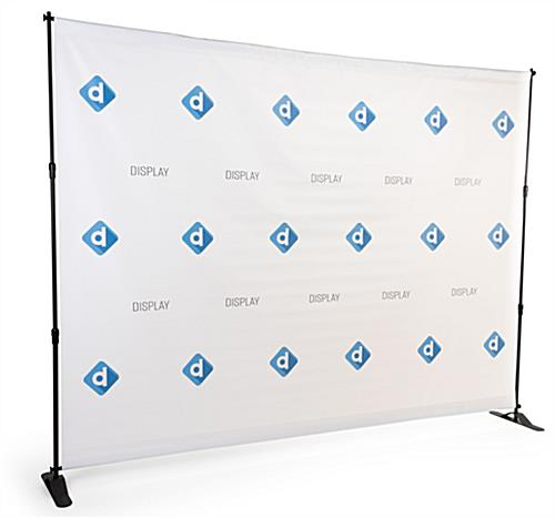 Step and repeat red carpet kit with indoor graphic display for personalized artwork